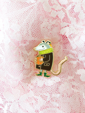 Pumpkin Possum Pin