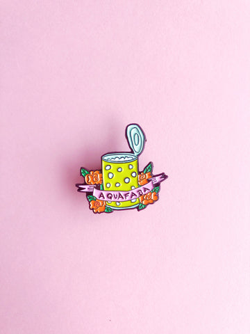 Aquafaba Enamel Pin