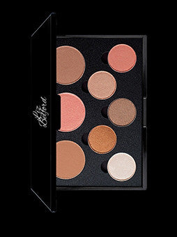 8-WELL PALLET (5 EYESHADOWS/3 BLUSH) - Liz Belford Cosmetics