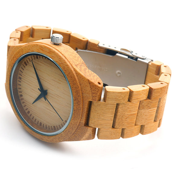 Brand Mens Watch BOBO BIRD Full Bamboo Wristwatches with Bamboo Band Japan Move' 2035 Quartz Wood Watch for Men as Gifts C-D19