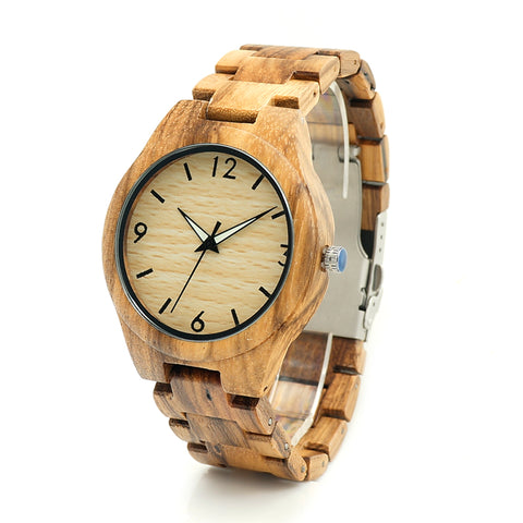 Luxury 2018 Brand BOBO BIRD Watch Men Wooden Watches Zebrad Wood Strap Wristwatches Reloj Masculino C-G24