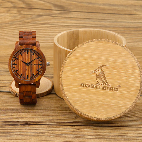 2018 New Design Luxury BOBO BIRD Brand Men Watches Wooden Band Quartz Wood Watch Wrist Watch with Gift Box Male Relogio C-M10