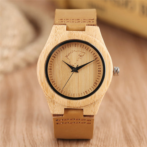 Game of Thrones Women Wood Watch Creative Quartz Wolf Wristwatch Nature Wooden Genuine Leather Band Novel Watches Gift 2018 New