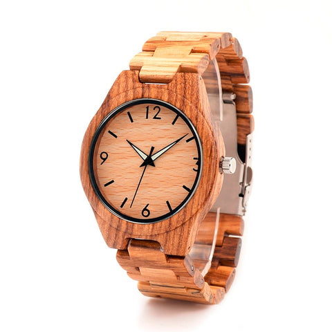 BOBO BIRD Brand Men' Watches Casual Luxury Wood Watches reloj masculino Men Wooden Wristwatch Gifts Top Items G24