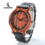 2018 New Luxury BOBO BIRD Brand Men Watches Wooden Band Quartz Wood Watch Wrist Watch Male Relogio C-M05