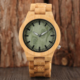 Nature Wood Wristwatch Green Dial Women Modern Analog Women Full Bamboo Quartz Creative Watches Gift Novel Clock 2018 New Arrival
