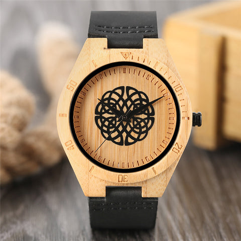 Nature Bamboo Wrist Watch Wooden for Women