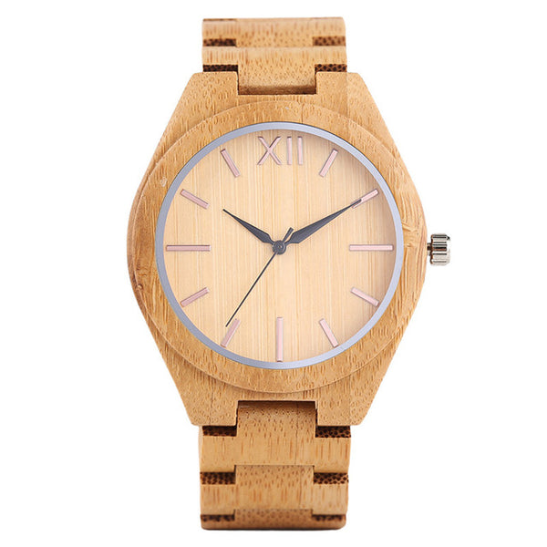 Creative Zebra Pattern Full Wooden Watch Men Bamboo  Watches Wood Modern Analog Simple Clock Bangle Fashion Gift 2018 New