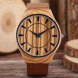 YISUYA Modern Nature Wood Watch Men Simple Classic Genuine Leather Band Bamboo Creative  Watches Casual Bangle Quartz Clock