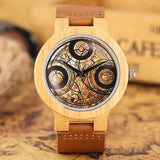 Bamboo Watches Dr. Who Theme Genuine Leather Band Quartz Wood Wrist Watch Men Modern 2018 New Analog Novel Nature Wooden Clock