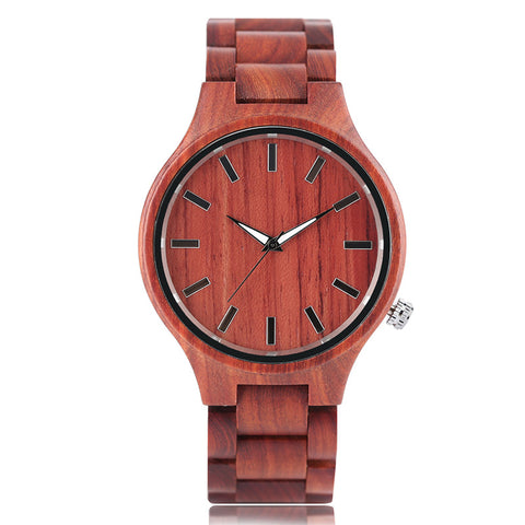 Nature Wooden Wristwatch Gift Novel Bamboo Men Creative Watches 2018 New Simple Analog Handmade Bangle Red Sandalwood Watch