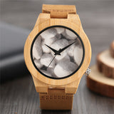 Nature Wooden Wristwatches Men Handmade Bamboo Watch Casual Trendy Gift Genuine Leather Band Creative Watches 2018 New Arrival