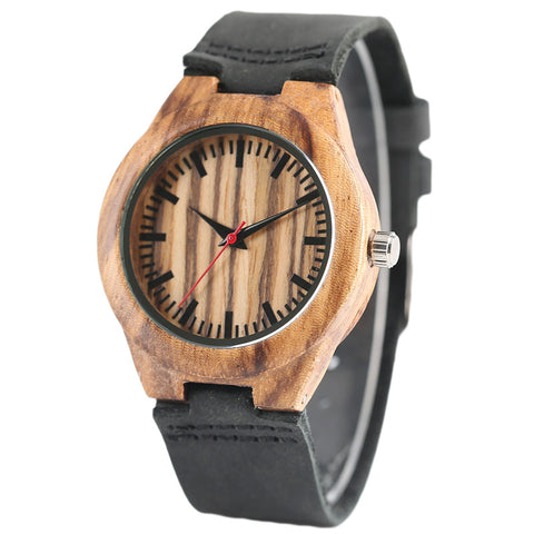 Nature Wood Women Watches Simple Genuine Leather Band Quartz Ladies Creative Wristwatch Wooden Novel Clock Gift 2018 Fashion New