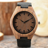 2018 New Arrival Sandalwood Nature Handmade Wristwatch Women Bamboo Genuine Leather Band Creative Watches Fashion Quartz relogio