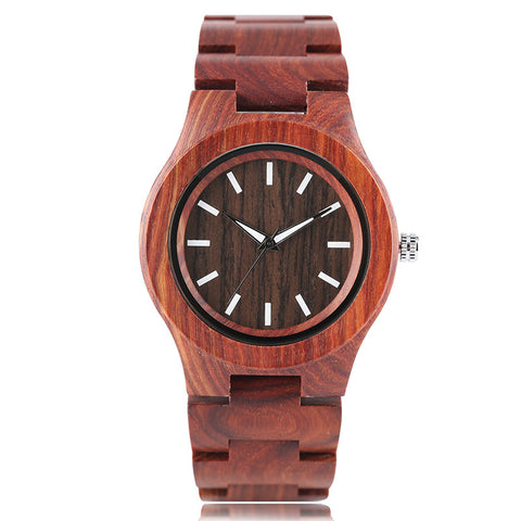 Creative Nature Wood Women's Watch Bangle Fashion Bamboo Wooden Wristwatch