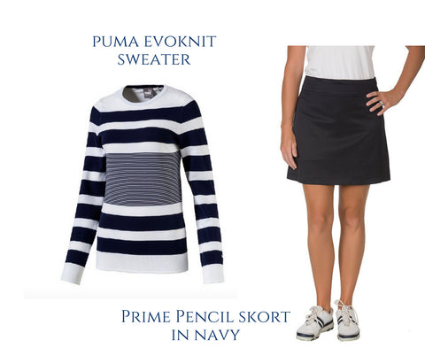Puma Evoknit Sweater Course & Club's Navy Golf Skort