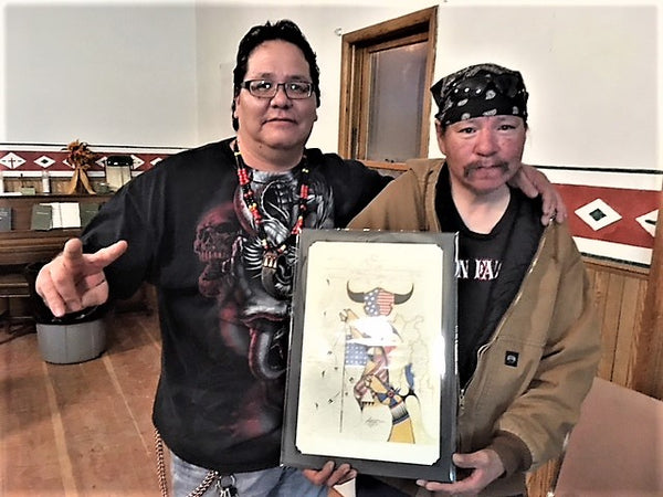Native American Art made possible thru GROW Nebraska and Lakota Hope project