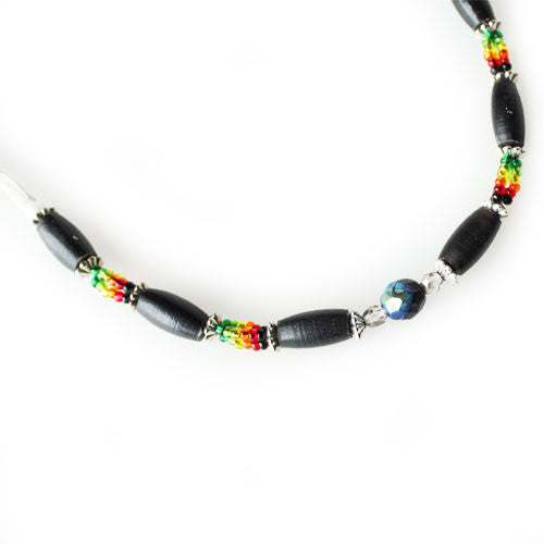 Lakota Crafters Multi-Colored Black Bone Bracelet by Valerie Brown Eyes