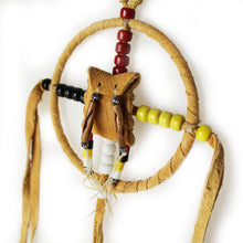 Lakota Crafters Natural Leather Medicine Wheel by Brenda Good Lance