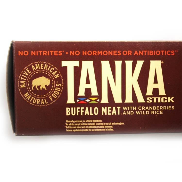 Tanka Slow Smoked Original Buffalo Meat Jerky Stick with Cranberries and Wild Rice