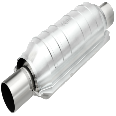 Long Round Universal Catalytic Converter OBDII
