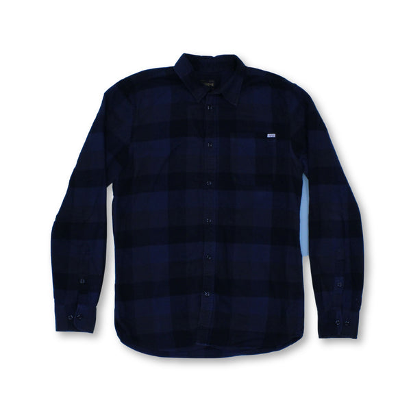 Jack & Jones Men's Long Sleeve Shirt M   Colour:Blue