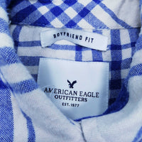American Eagle Outfitter Women's Long Sleeve Shirt XS   Colour:Blue