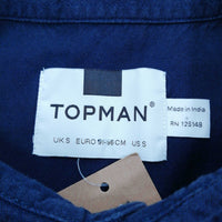 Topman Men's Short Sleeve Shirt S   Colour:  Blue