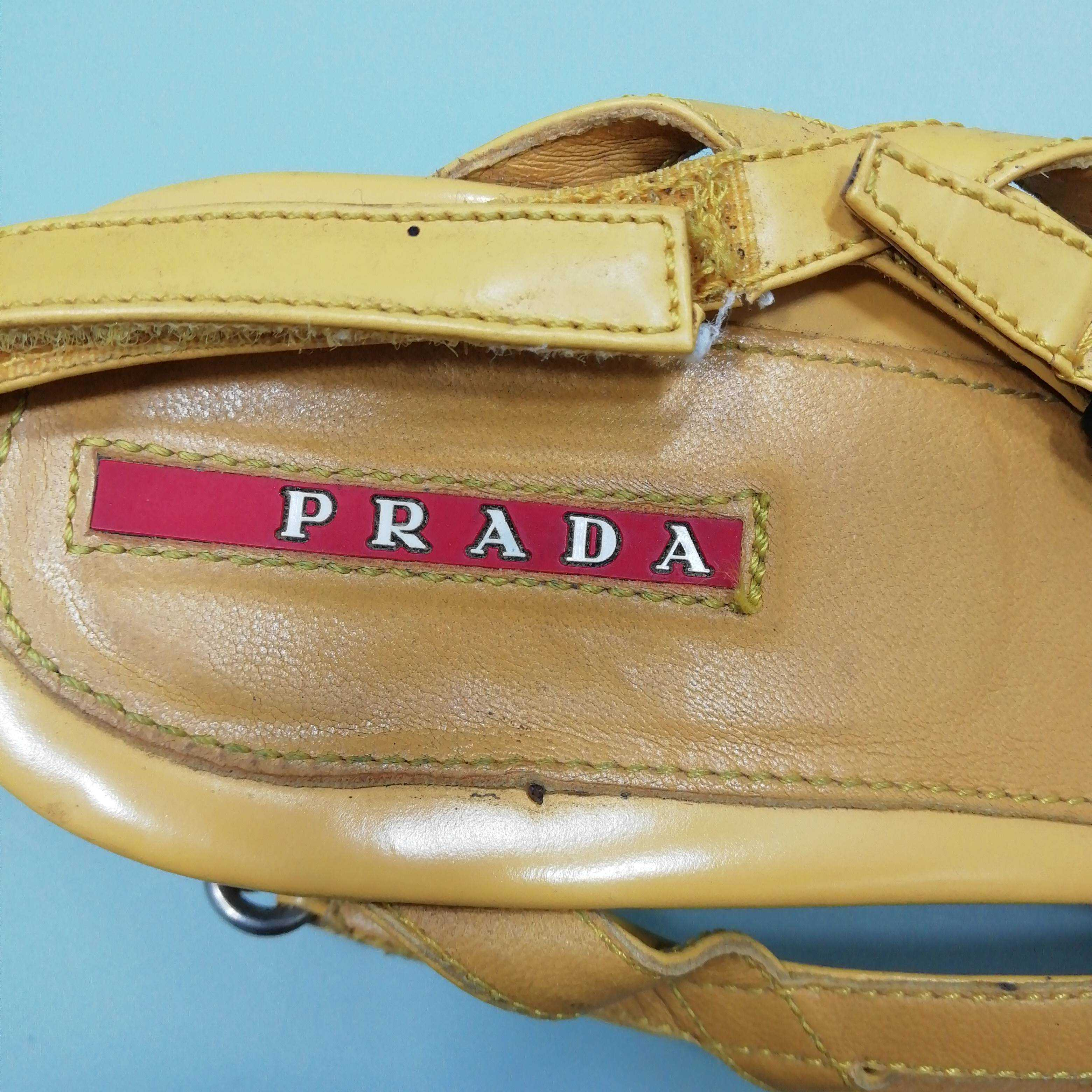 Prada Women's Sandals 7 UK 7 Colour: Yellow