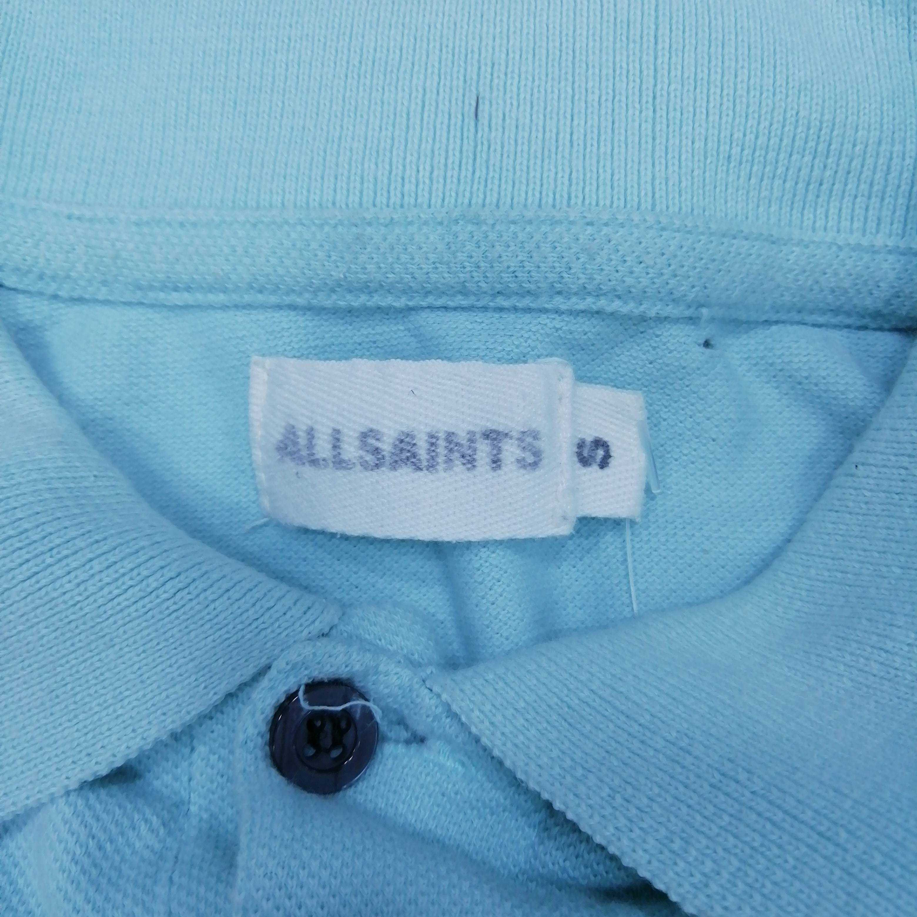 Allsaints Men's Short Sleeve Polo Top S Colour:  Green
