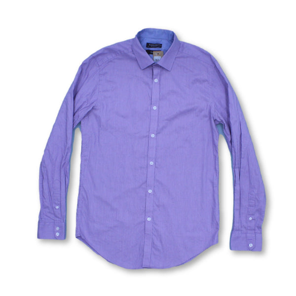 St. George By Duffer Men's Long Sleeve Shirt M   Collar: 15.5 Colour:Purple
