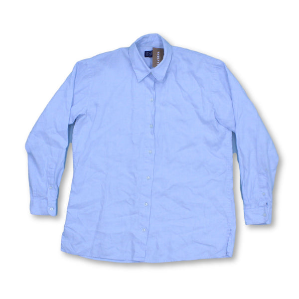 Land'S End Men's Long Sleeve Shirt XS   Colour:Blue