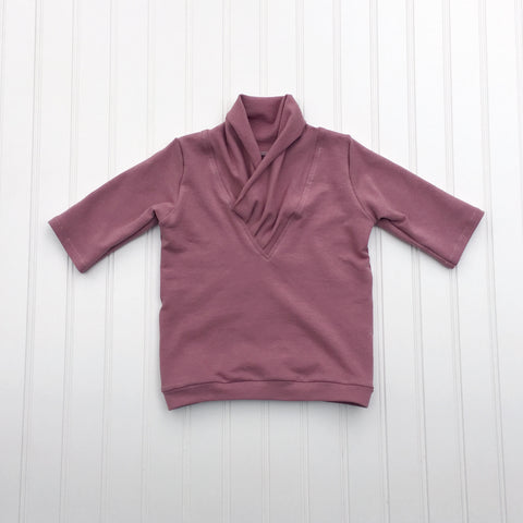 Scarf-Neck Sweater - Baby - Mauve