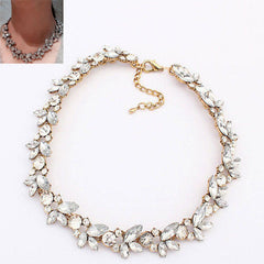 Jewelry Charm Retro Crystal Chunky Statement Bib Chain Choker Necklace     FREE SHIPPING   Special $24.00