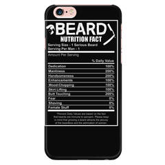 Beard Nutrition Fact Phone Cases Not Sold In Stores  ON SALE NOW