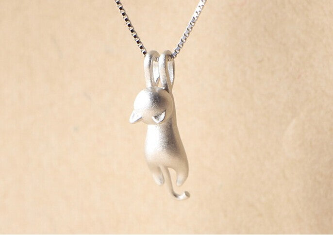 🐱  925 Sterling Silver Necklace Cat Pendant Jewelry FREE Shipping 🚚