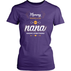 Mommy Knows A Lot But Nana Knows Everything Not Sold in Stores ON SALE NOW
