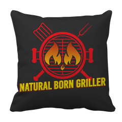 Natural Born Griller   BBQ Decorative Pillow