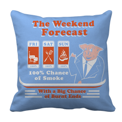 The Weekend Forecast  BBQ Decorative Pillow