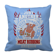 Just Another Beer Drinker  BBQ Decorative Pillow