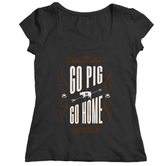 Go Pig or Go Home  BBQ Tshirt