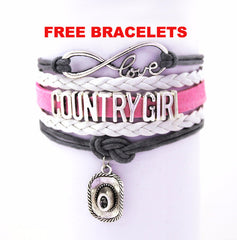 FREE Infinity Bracelets Country Girl Bracelet  Suede Leather  Bracelets Just pay Shipping 🚚