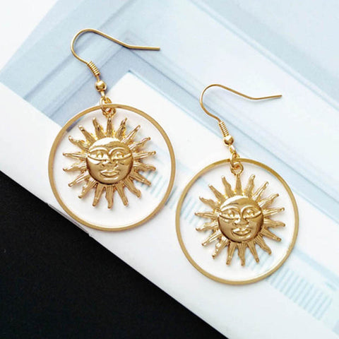 Handmade Sun Earrings  Fashion Jewelry  FREE Shipping...