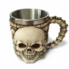 3D Skull Double Wall Stainless Steel Mugs Coffee Tea Mugs