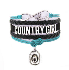 Infinity Bracelets country girl Music bracelet Sports Suede Leather Cheer Bracelets Rustic Nova