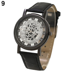 Unisex Roman Numerals Skeleton Analog  Watch