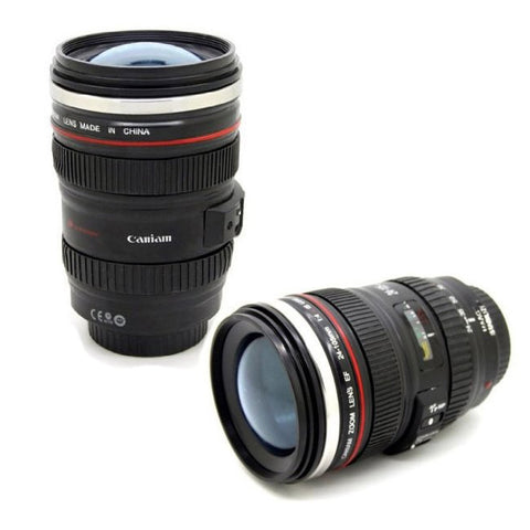 Camera Lens Coffee mug 24-105mm 1:1 camera lens SIX generation of creative emulation mug (with lid) Awesome Gift Idea
