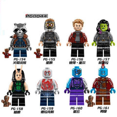 Guardians of the Galaxy Groot Raccoon Star-Lord Peter Quill Nebula Mantis Glenmora Hugo Drax Blocks Toys