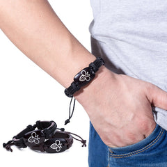 Bee Leather Bracelets Handmade Lace Up Adjustable  Unisex Charm Bracelet