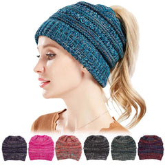 Women Ponytail Beanie Knitted  FREE SHIPPING